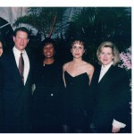 Autumn, Former Vice President Al Gore, mom Yvonne Burke, sister Christine Burke and Tipper Gore