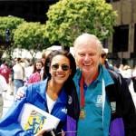 Autumn Burke and Former Mayor Richard Riordan