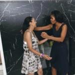 Autumn Burke and Michelle Obama
