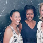 Autumn Burke with Michelle Obama and Producer and former CEO of the Brigitte and Bobby Sherman Children's Foundation